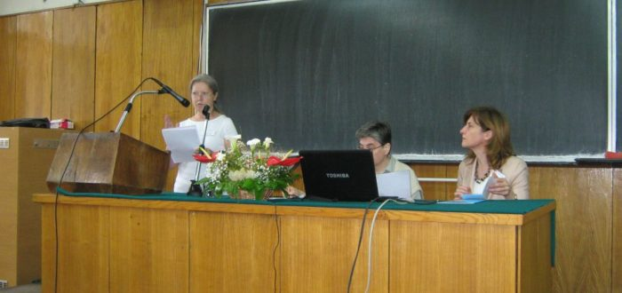 пленарное заседание 1 июня: выступает Г. И. Стрепетова