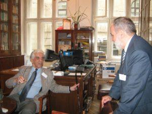 в помещении оргкомитета: Б. Терзич и П. Буняк