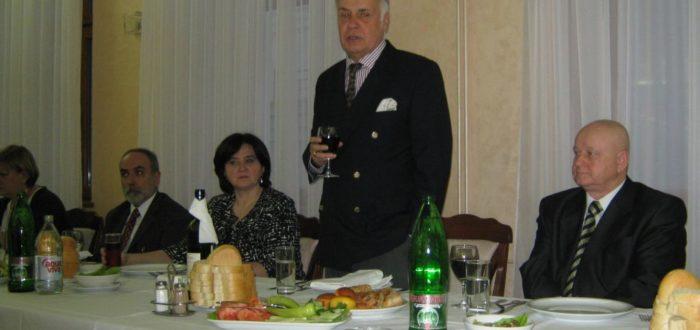 13 января 2012 г. За обедом: тост А.В. Конузина