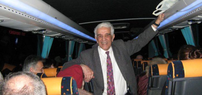 13 января 2012 г. Поездка на Авалу: на обратном пути участников развлекает Б. Терзич